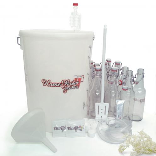 Elderflower starter kit with glass bottles